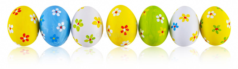målad easter ägghand arkivbild