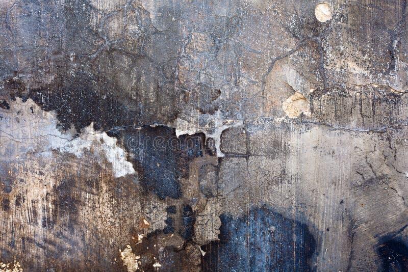 målad förstörd texturvägg royaltyfri bild