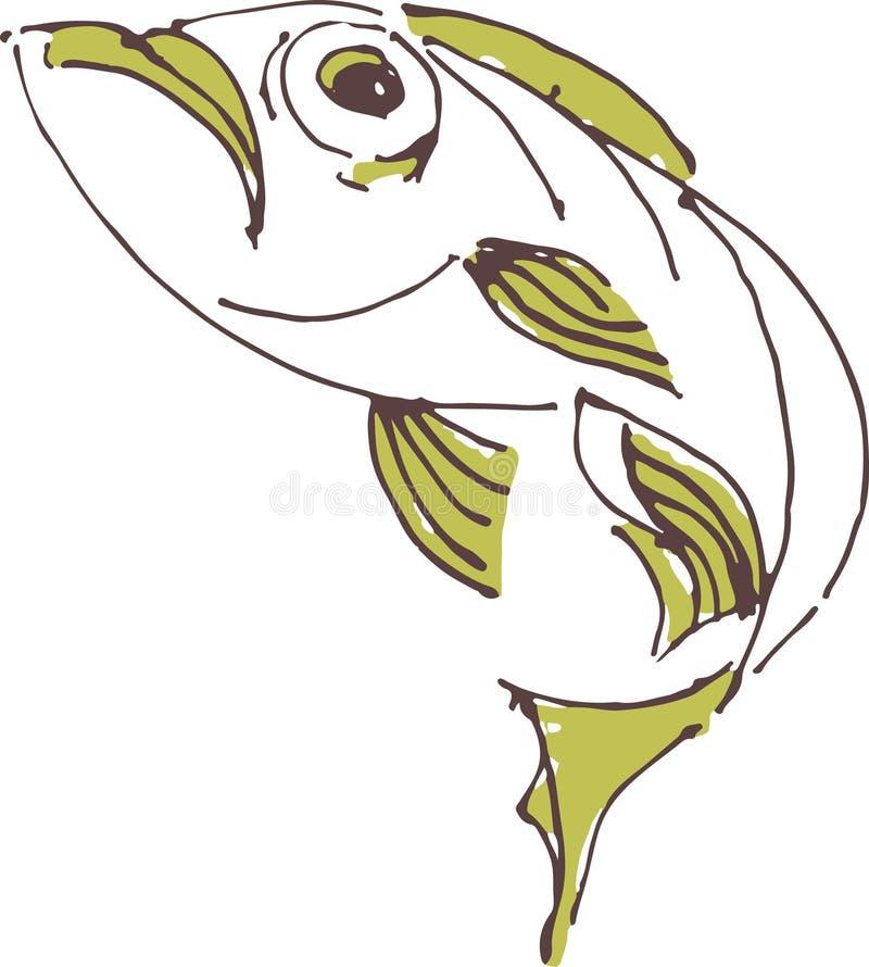 målad fisk royaltyfri illustrationer