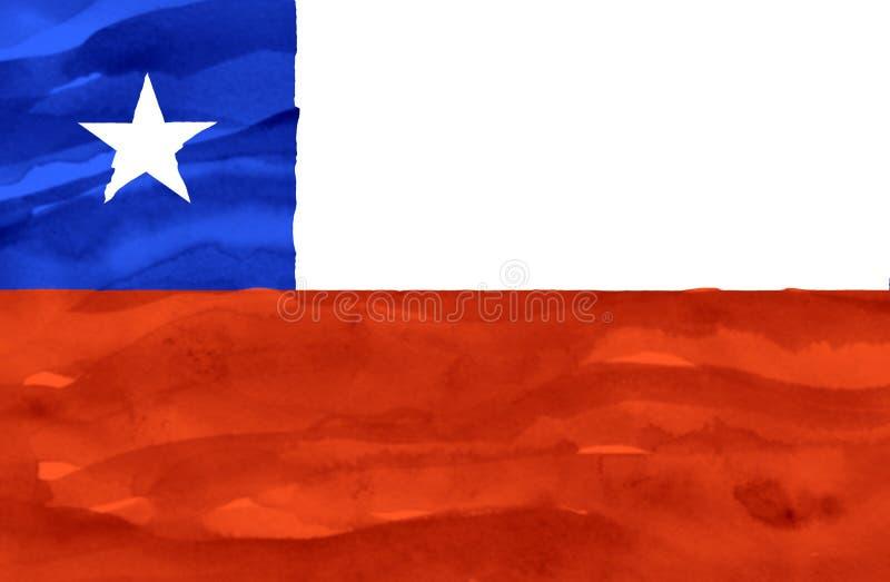 Målad flagga av Chile royaltyfri fotografi