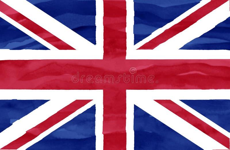 Målad flagga av Förenade kungariket arkivbild