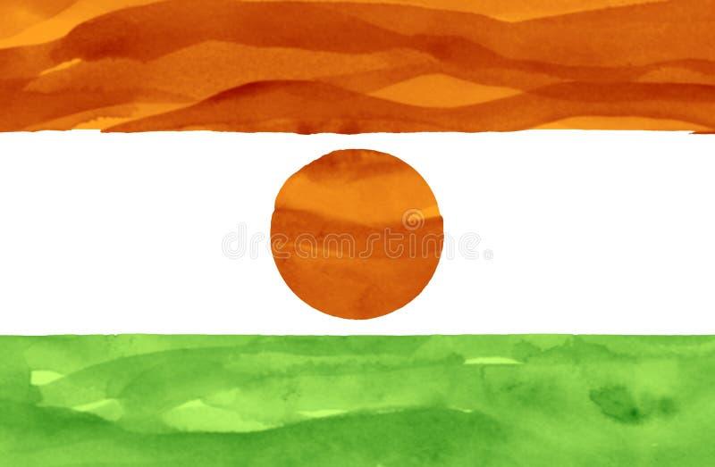 Målad flagga av Niger royaltyfri bild