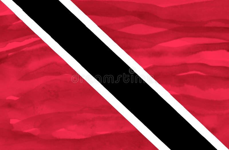 Målad flagga av Trinidad och Tobago royaltyfria foton