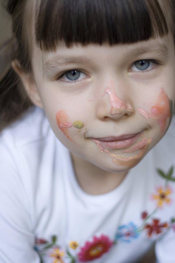 målad flicka royaltyfria foton