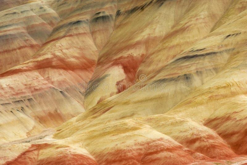 Målad geologisk bakgrund för kullar fotografering för bildbyråer