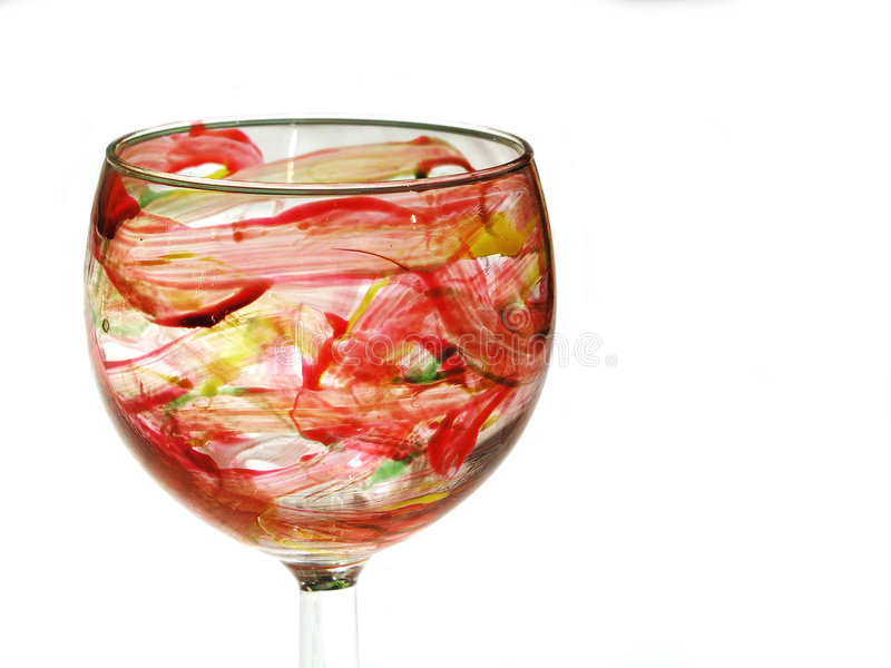 målad glass hand royaltyfri bild