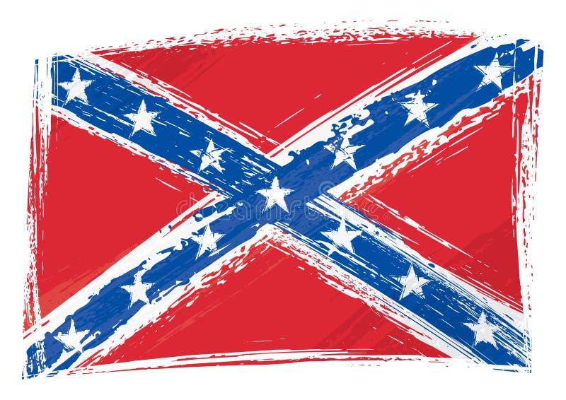 Målad Grunge förbundsmedlem flaggan royaltyfri illustrationer