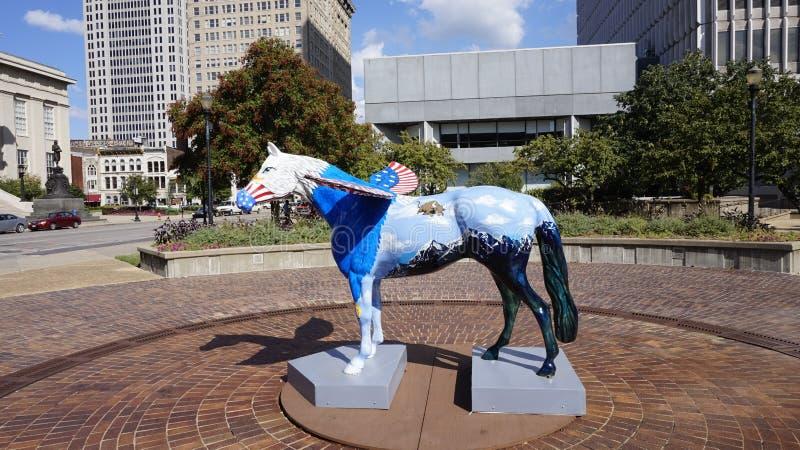 målad häst royaltyfri foto