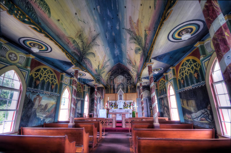 målad kyrka royaltyfri foto