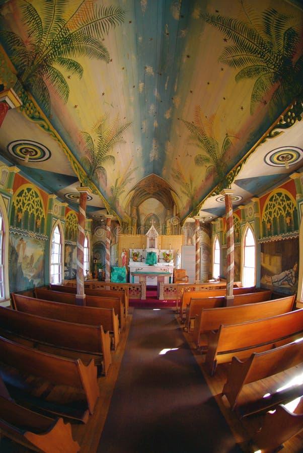 målad kyrka royaltyfria bilder