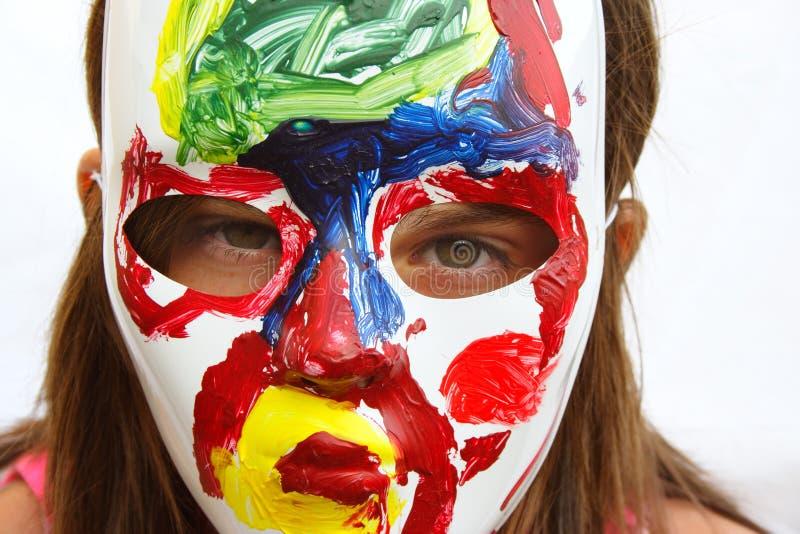 målad maskering royaltyfri foto