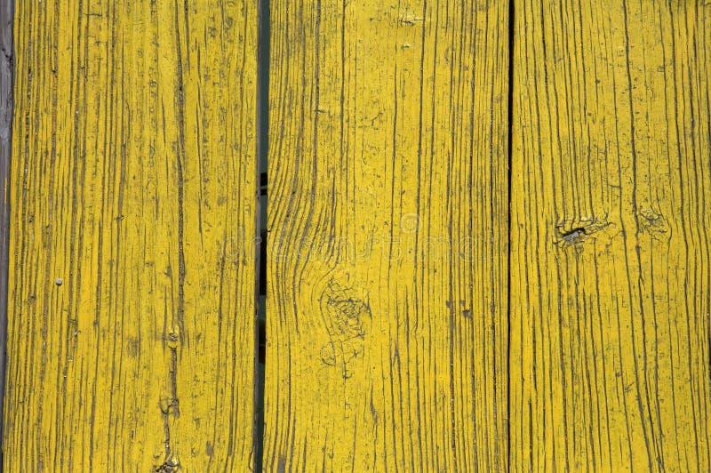 målad plankaträyellow arkivbild