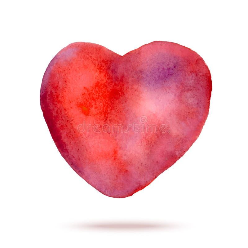 Download Målad Röd Hjärta För Vattenfärg Hand Vektor Illustrationer - Illustration av design, gåva: 37347610