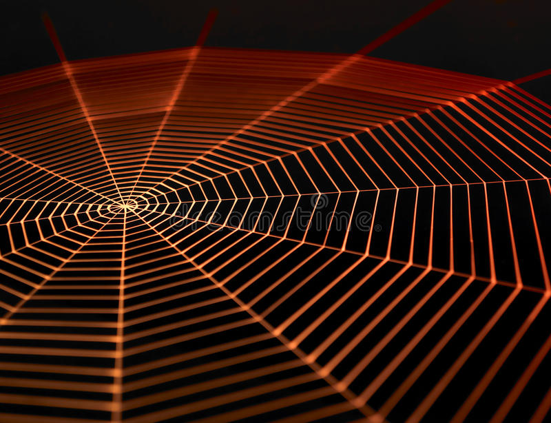 Målad spiderweb arkivfoton