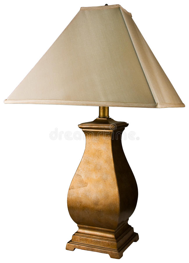 målad tabell för guld lampa royaltyfri fotografi