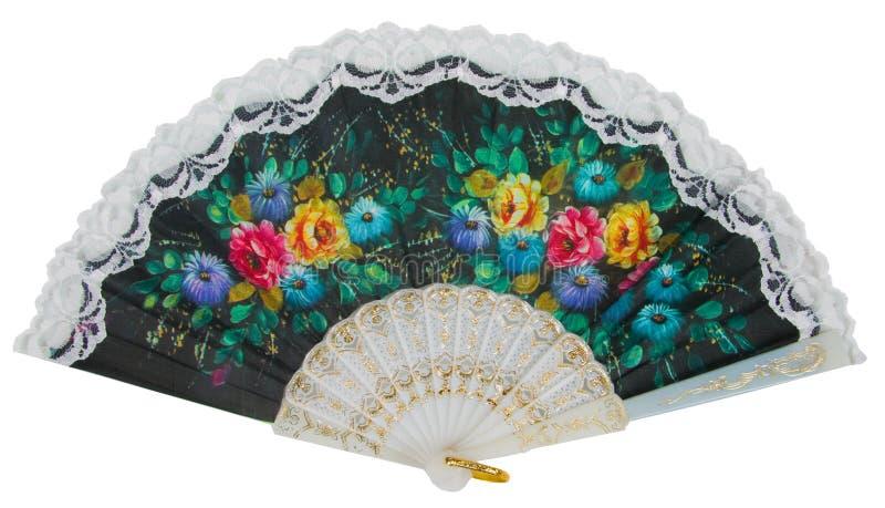 målad ventilatorhand royaltyfri fotografi
