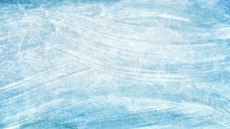 Målade den blåa vita handen för vattenfärgen borsteslaglängder abstrakt bakgrundsblålinjen Livliga aquarellevågor Havsstuckaturmo royaltyfri illustrationer