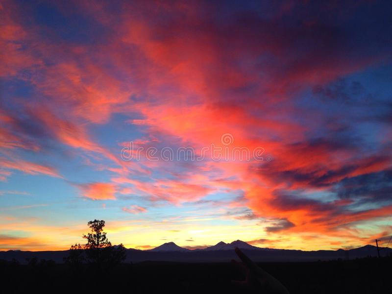 Målade himlar fotografering för bildbyråer