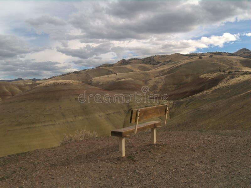 Målade kullar av Oregon arkivbilder