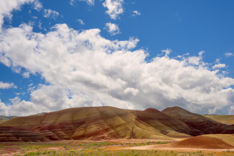 Målade kullar John Day Fossil Beds royaltyfri foto
