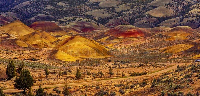 Målade kullar Oregon royaltyfria foton