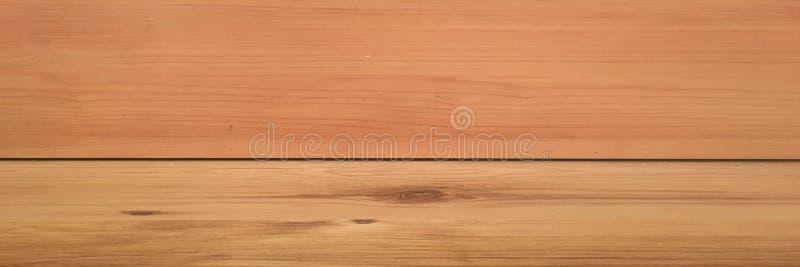 Målade lackade det wood golvperspektivet för rum, grungepastell väggen och trälaminatplankagrou gammal lokal för bakgrund Tvättad royaltyfri foto