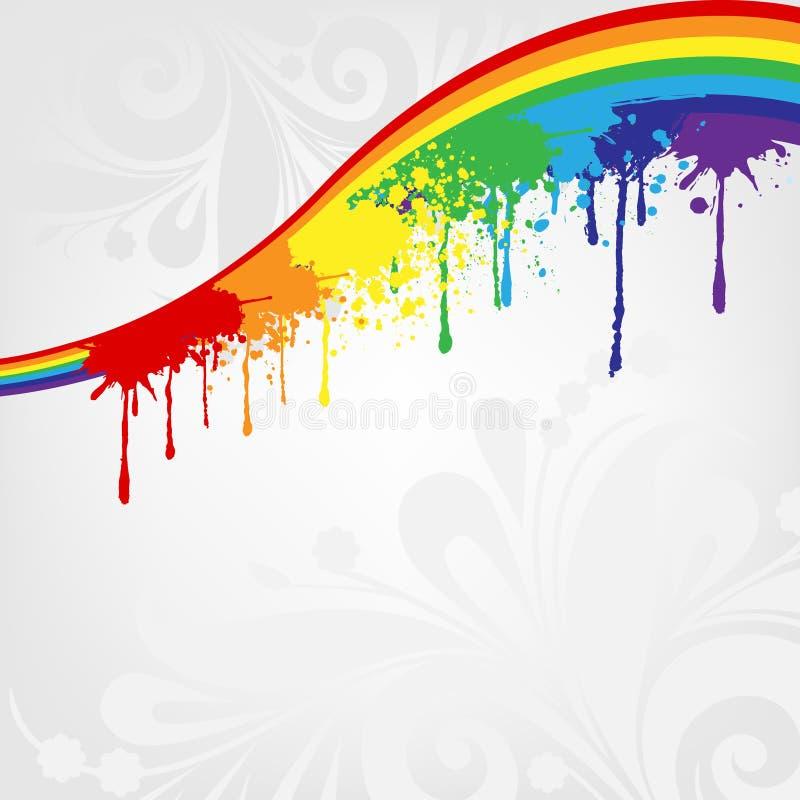 målar regnbågen vektor illustrationer
