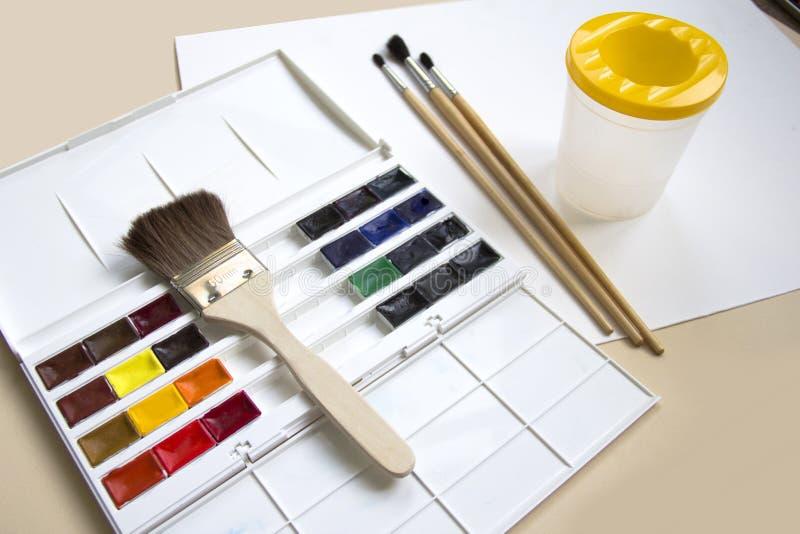 målar vattenfärg fotografering för bildbyråer