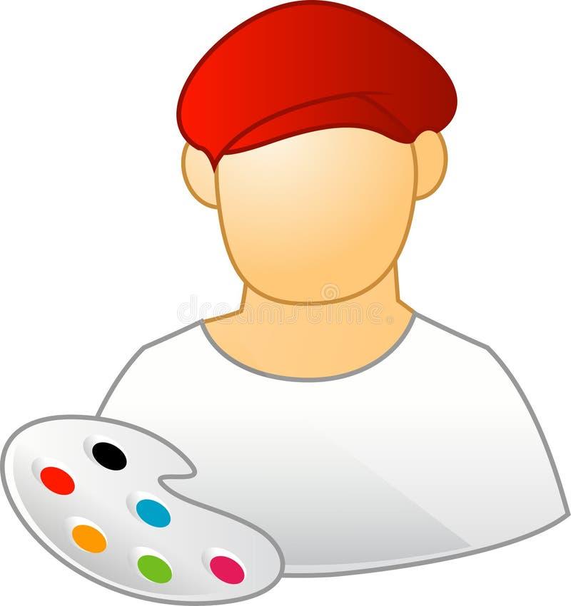målare stock illustrationer
