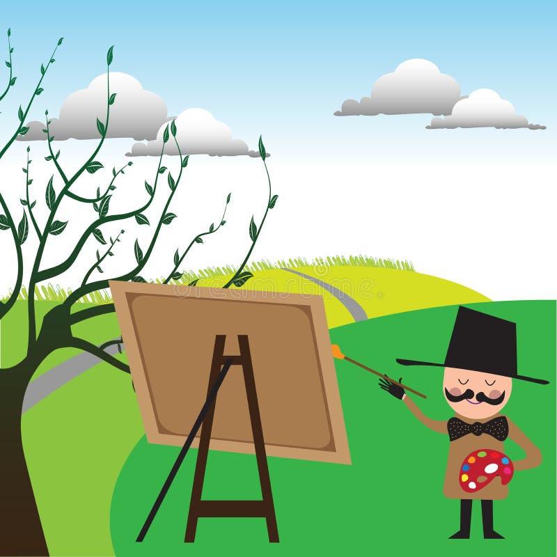 målare royaltyfri illustrationer