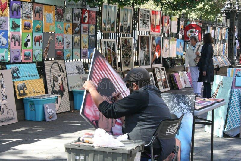 Målare i Jackson Square arkivbild