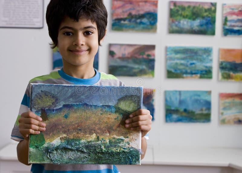 målarebarn royaltyfria bilder