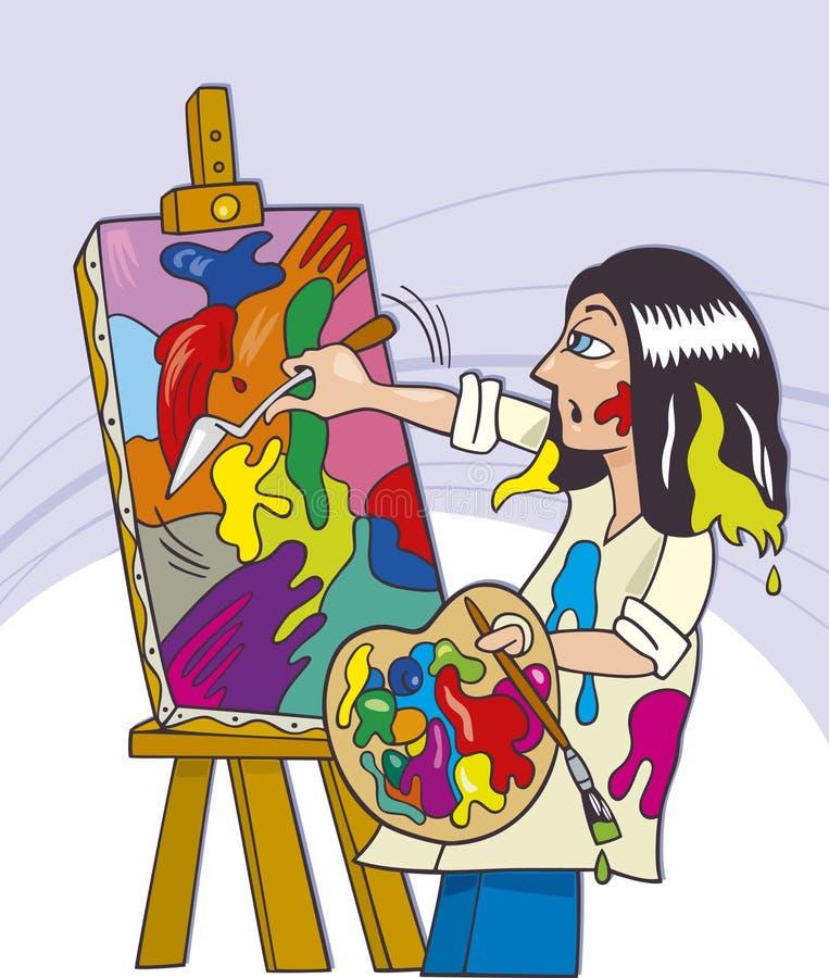 målarebarn royaltyfri illustrationer