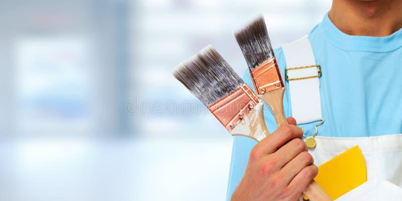 Målarehänder arkivbilder