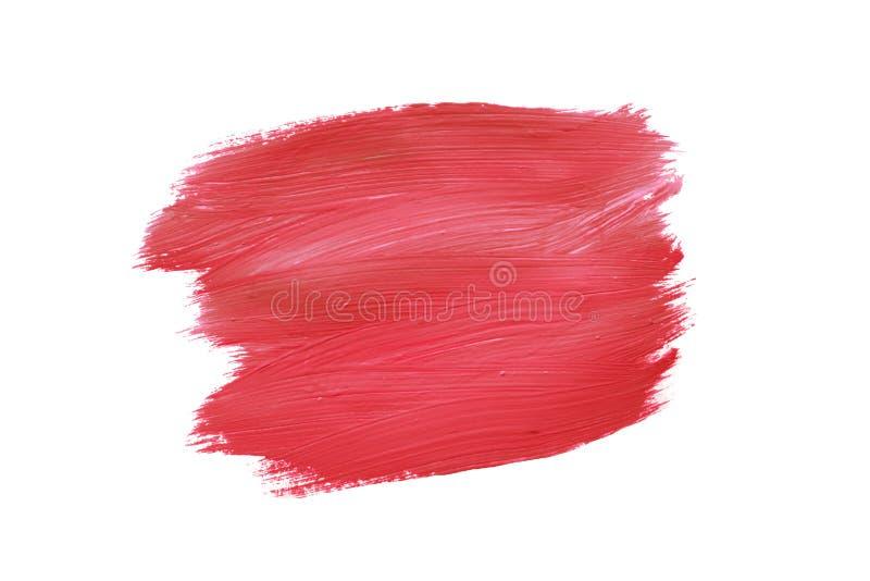 Målarfärg av den röda och vita gouachen Textur av bortförklaringen, rosa krita royaltyfri foto