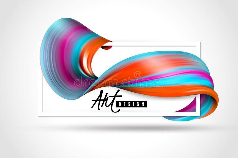 Målarfärg borstar slaglängdhorisontalaffischen vektor illustrationer