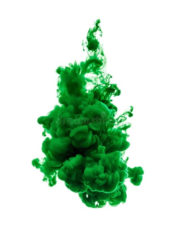 Målarfärg för grön färg royaltyfri foto