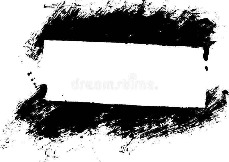 målarfärg för kantramgrunge stock illustrationer