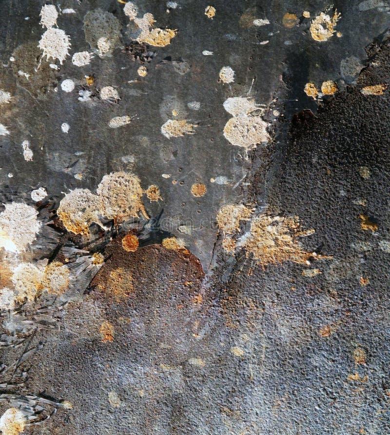 Målarfärg plaskar rostabstrakt begrepp royaltyfri fotografi