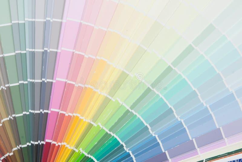 Målarfärgfärgpalett arkivfoto