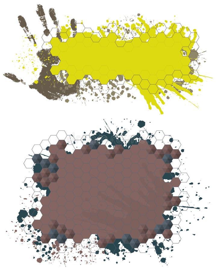 målarfärgfärgstänk för baner nr2 vektor illustrationer