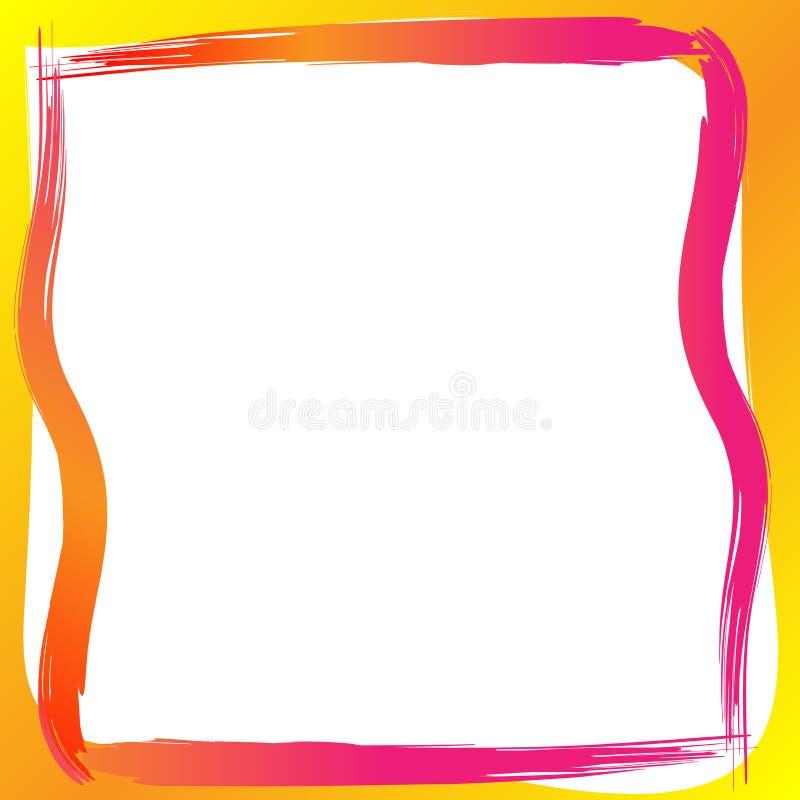Målarfärggränsram stock illustrationer