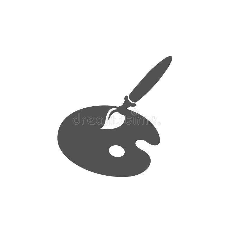 Målarfärgpalettsymbol vektor illustrationer