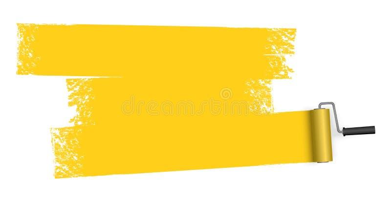 målarfärgrulle med markeringen vektor illustrationer