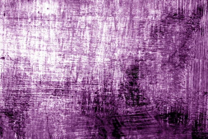Målarfärgstrockes på metall i lilasignal arkivbild