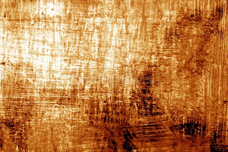 Målarfärgstrockes på metall i orange signal arkivfoton