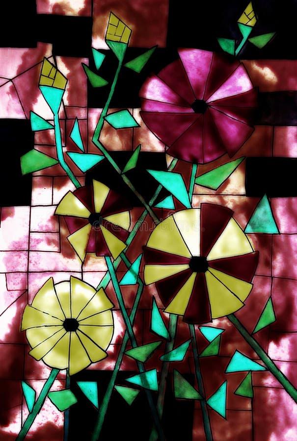 Målat glassdesign - målning av en 5th väghyvel royaltyfria bilder