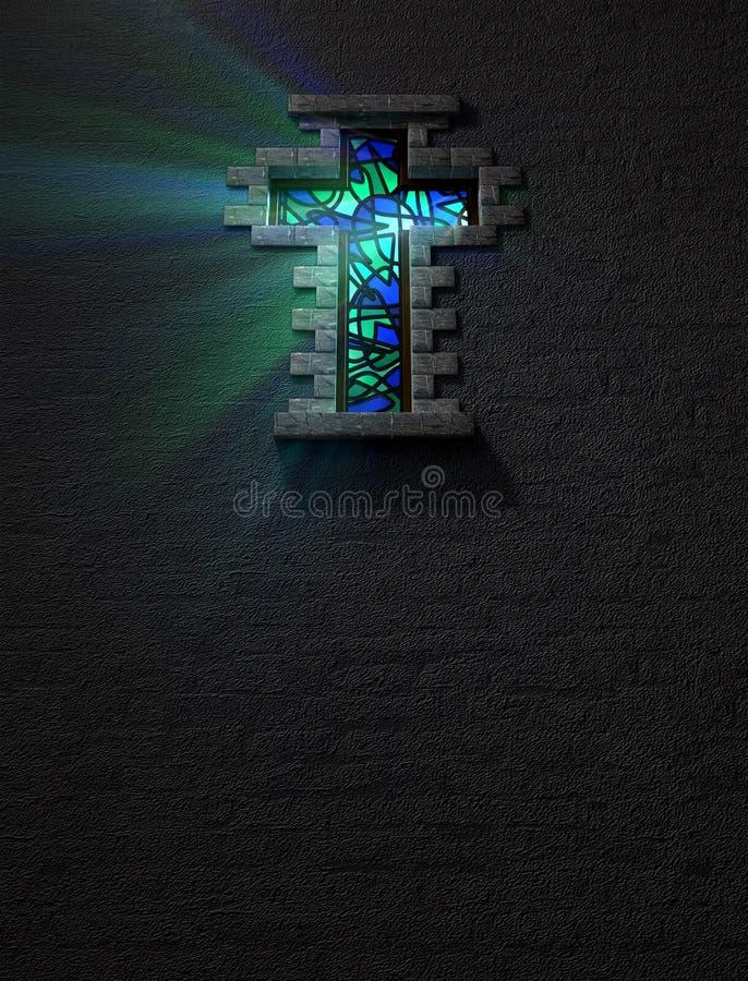 Målat glassfönsterkor vektor illustrationer