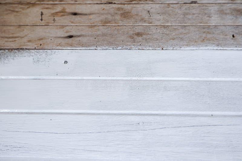 målat surface trä Vit färg royaltyfria foton