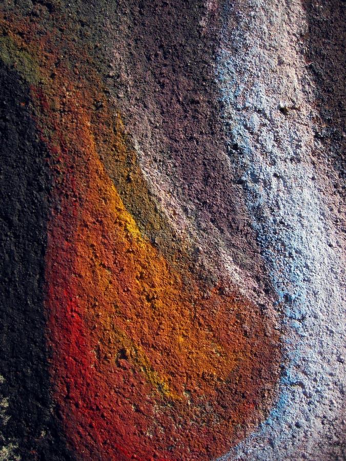 Målat väggabstrakt begrepp royaltyfri fotografi